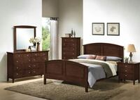 *BRAND NEW* 4PC WHISKEY BROWN QEEN BEDROOM SET!!! DELIVERY AND ASSEMBLY INCLUDED!!! Powder Springs