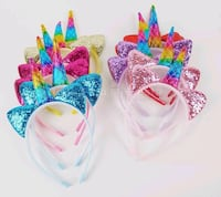 Rainbow unicorn glitter headband 5$ each you pick up San Jose, 95116