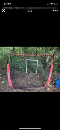 Batting/pitching net with travel tee