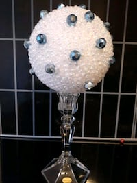 Large White and blue pearls topiary