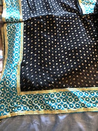 Beautiful party saree with stitch blouse