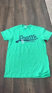 green and blue Seattle Washington crew-neck short-sleeved shirt 1065 mi