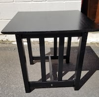 Black Wooden Table 24 in high CHARLOTTE