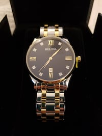NEW - NEVER USED Men's Bulova Diamond Accent Two-Tone Watch