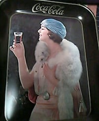 EARLY 1920'S COKE-COLA TRAY OF YOUNG WOMAN DRINKIN Saint Paul, 55118