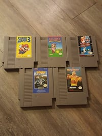 several assorted-title SNES game cartridges Barrie