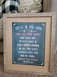 Proverbs 3:5 & 6 Wall Art Decor