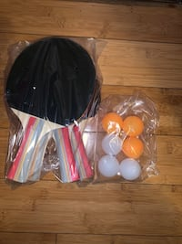 Table tennis ping pong 4 paddles and 6 balls brand new in box
