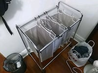 3 basket laundry sorter and hamper combo Toronto, M6H 2W4