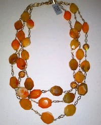 Carnelian Agate Beaded Necklace White City, 97503
