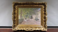 Impressionist textured print and frame