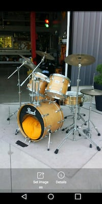Drum set, 5 piece Pearl DLX