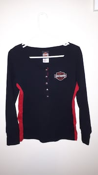 black and red long sleeve shirt EDMONTON