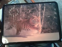 Approximately 15inch by 20inch Tiger Plaque with Clock (no components) Belleville