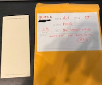 SUITS official prop - Louis Litt Note Slips  Vaughan, L4K 5L2