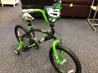 "New 18"" Green Surge Bike w/ Training Wheels"