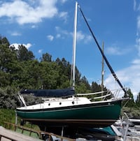 Sailboat Com-Pac 23/Gaff Rig Sloop 1985, restored 2012 (added features for easy trailer-ability) West Union