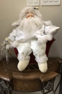Home decor sitting Santa in sleight  Brampton, L6P 3E5