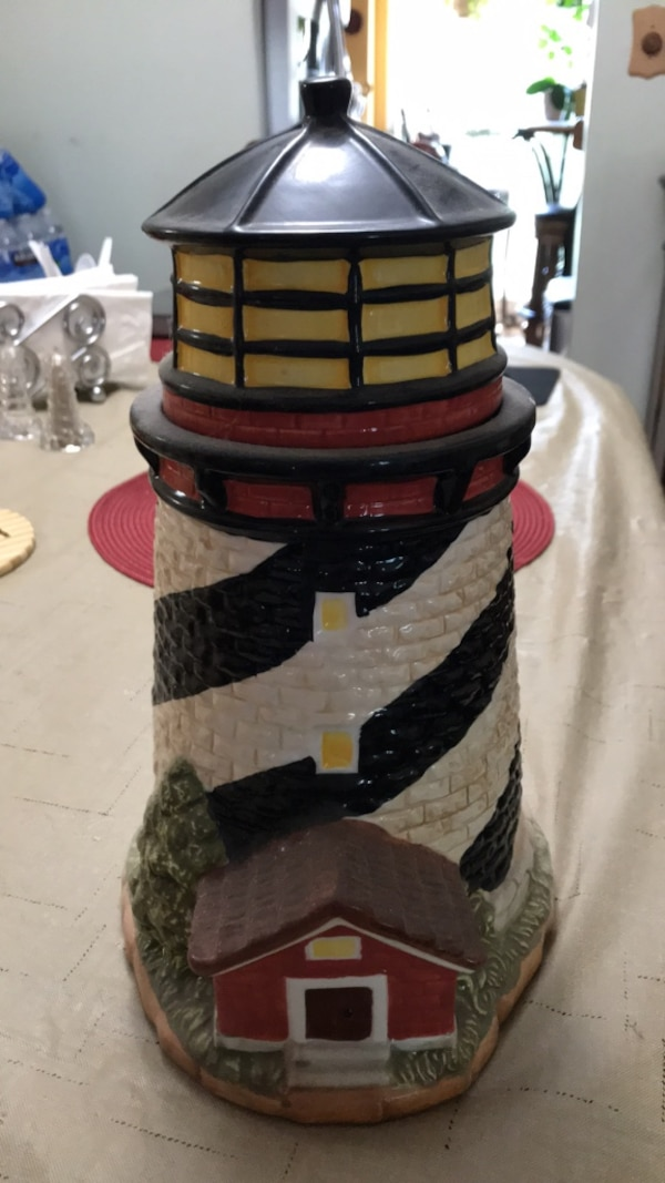 light house cookie jar