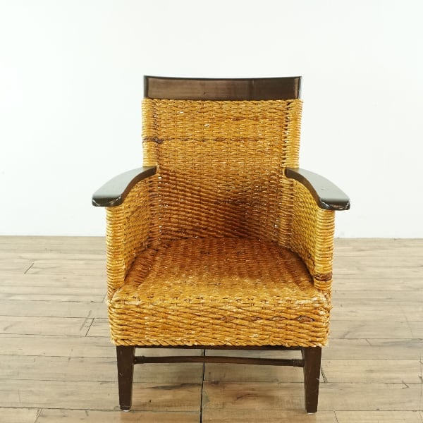 Wood and Wicker Armchair (1027420)