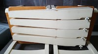 Cream Solid Pine Farmhouse Table + 6 Chairs MANCHESTER