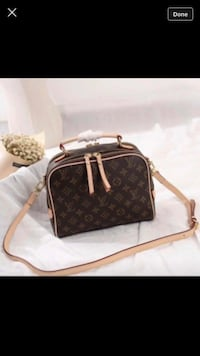 brown Louis Vuitton leather handbag