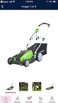 GreenWorks 20-Inch 12 Amp Corded Electric Mower North Las Vegas, 89031
