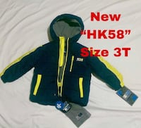 """Brand New """"HK58"""" Boys 2-piece Jacket Set Size 3T. (includes gray hat). Harwood Heights, 60706"""