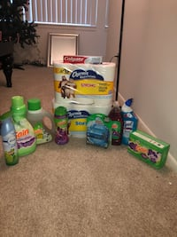assorted-brand household cleaning product lot 372 mi