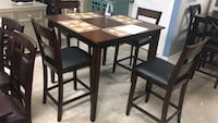 brown wooden dining table set Houston, 77075