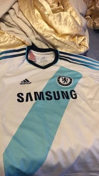 white and blue Adidas Chelsea Samsung jersey shirt London, SE9 6LE