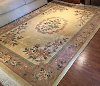 Handcarved Pastel Chinese 100% wool rug- 6'x9' Ashburn, 20147
