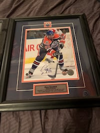 2 Signed & Framed Oilers pictures with COA Edmonton, T5N 0W8