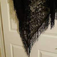 Black lace fringe shawl textile  Pahrump, 89061
