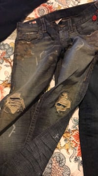 Black denim straight cut True religion jeans Toronto, M3J