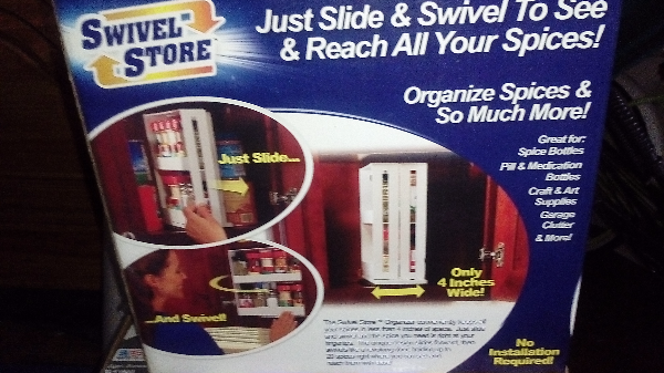 Swivel Store organizer box