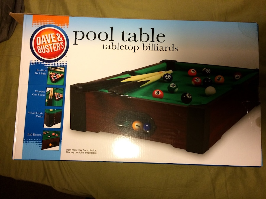 Incroyable Dave And Busteru0027s Pool Table Tabletop Billiards Box