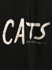 Vintage Cats 1981 Broadway 2 sided Women's t-shirt Chicago, 60610