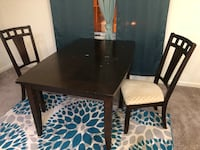 Dining table and 3 chairs. You have to pick up from near the Fort Totten metro stop. Used condition. Seat cushions discolored   Washington, 20011