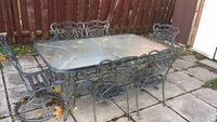 Rectangular  table with six chairs patio set Longueuil, J4L 2P9