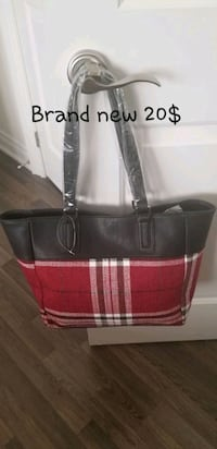 black and red leather tote bag Brampton, L6R