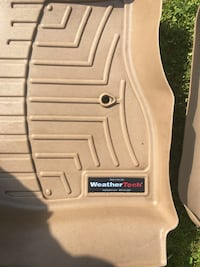 Ford Taurus Weather Tech floor mats. Will fit full size Ford Taurus and Ford 500 from 2006 thru 2010 or any other full size car similar to the 500 or Taurus. Tan color and in very good condition Ellwood City