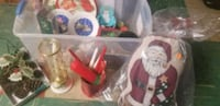 Bucket full of Vintage Christmas Items 388 mi