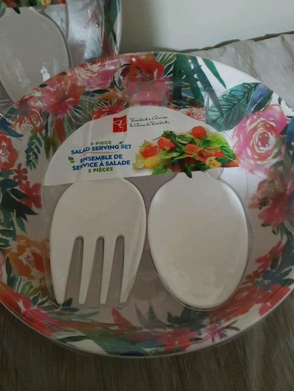 NEW  3pcs Salad Serving Set. Dishwasher Safe.  $10 3