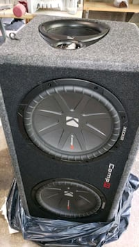 2 Kicker 12 inch subs in box with 1200w Amp Cranston, 02921
