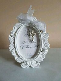 white and gray floral photo frame Mississauga, L5R 3J8