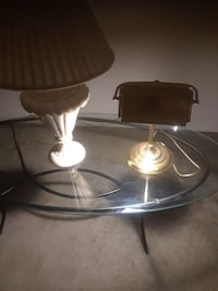 two clear glass table lamps Glen Burnie, 21061