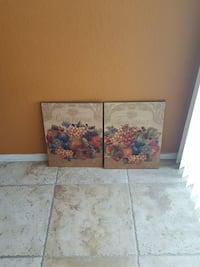 two white-and-pink flower paintings Perris, 92570