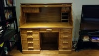 """Antique style Rolltop desk - 54"""" wide, 51"""" tall, 29 """" key included Toronto, M2M 4L3"""
