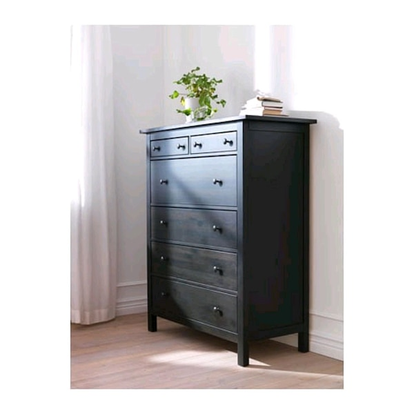 Be Nad Ikea Hemnes 6 Drawer Chest Black Brown Till Salu I Dunwoody Letgo